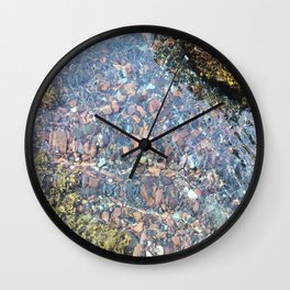 clear ocean Wall Clock