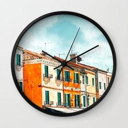 Burano Island #painting #digitalart #travel Wall Clock