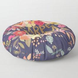 Carpe Diem Floral ring Floor Pillow