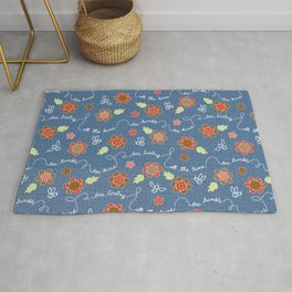 Bee Message - Coffee berry Rug