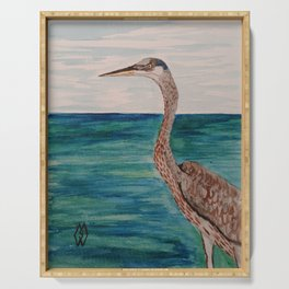 Great Blue Heron  Serving Tray