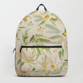 Watercolor Daisy Bouquet - Summer Happy Flowers Painting Backpack