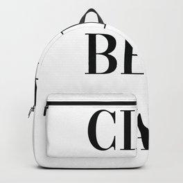 Ciao Bella Print, Italian Quote, Typography Quote Decor Hello Beautiful Backpack