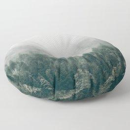 Foggy Forest 3 Floor Pillow