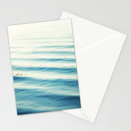 Ocean Waves Blue Photography, Aqua Water Sea Seascape Photo, Teal Beach Coastal Abstract Waves Stationery Cards