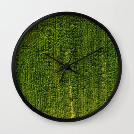Lost Patterns Wall Clock