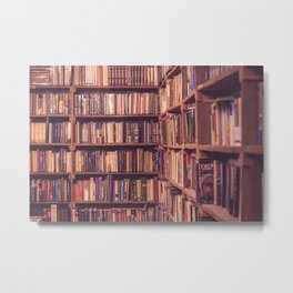 Old Book Shop Metal Print