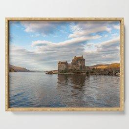 Eilean Donan Castle, Dornie, Kyle of Lochalsh, The Highlands, Scotland Serving Tray