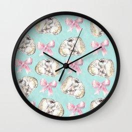 Kittens and Bows Wall Clock
