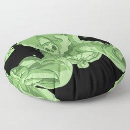 Soul Kings Soul Black background  Floor Pillow