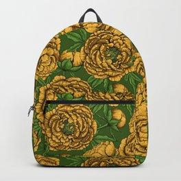 Yellow peony bouquet Backpack