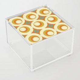 Mid-Century Modern Orange Acrylic Box