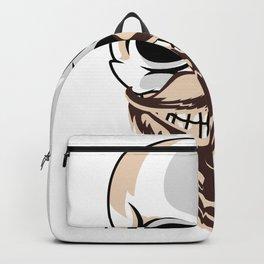 Cool Skull With Beard Skull Hipster Backpack