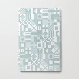 maritime flags - dusty blue Metal Print