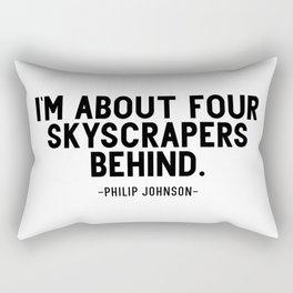Four skyscrapers behind. Philip Johnson Rectangular Pillow