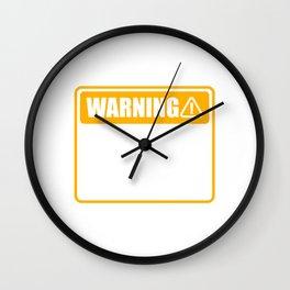 """Warning May Spontaneously Talk About Memes"" T-shirt Design Troll Meme Internet Phenomenon Community Wall Clock"