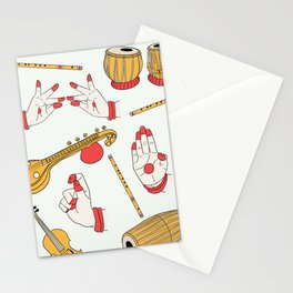 Indian Dance and Carnatic Music Stationery Cards