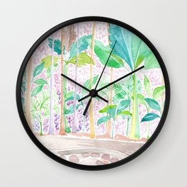 Pink Forest Wall Clock