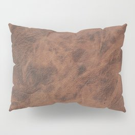 Old Tan Leather Print Texture | Cowhide Pillow Sham