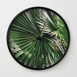 Fan Palms Wall Clock