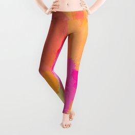 Pink, Orange and Yellow Watercolors Leggings