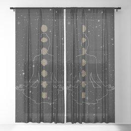 Seven Chakra's - Spiritual Healing Reiki Sheer Curtain