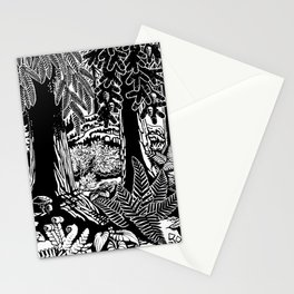 Landscape Art Gifts B & W Forest Art Print Stationery Cards