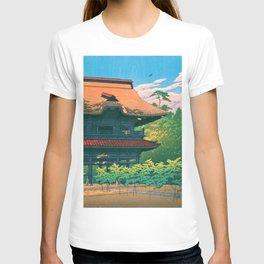KAMAKURA KENCHOJI - Kawase Hasui T-shirt