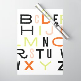 Eclectic Alphabet Wrapping Paper
