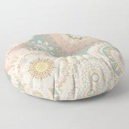 Rose Gold Mint Mandalas Floor Pillow
