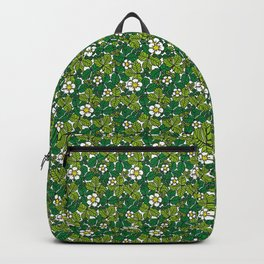 green density full of leaves and flowers Backpack