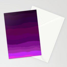 Purple Pink Plum Ombre Stationery Cards