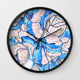 Summer Rose Flowers Illustration Wall Clock