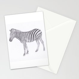 Zebra Pencil Drawing Stationery Cards