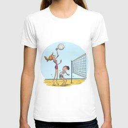 Beach volleyball girls team T-shirt