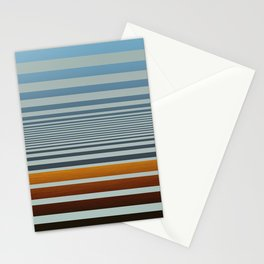 Masculine Grey Blue Wood Grain Gradient Stripes Stationery Cards