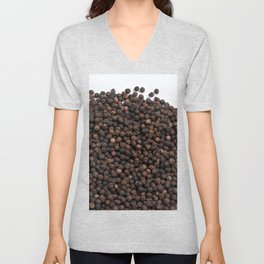 Black pepper texture Unisex V-Neck