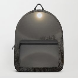 Moon Halo in the forest Backpack