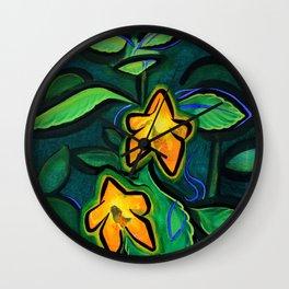 Orange Jewelweed 2.0 Wall Clock