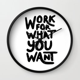 Words to live by Wall Clock