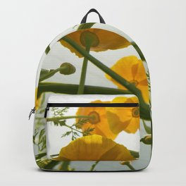 Looking Through Yellow Daisies to the Sky Backpack