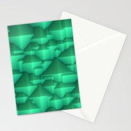 Green Pyramid Stationery Cards