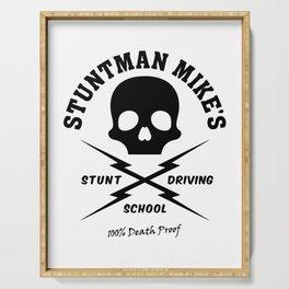 Mod.2 Death Proof Stuntman Mike Car Skull Tarantino Retro Vintage Movie Driving School Camiseta T-Shirt Serving Tray