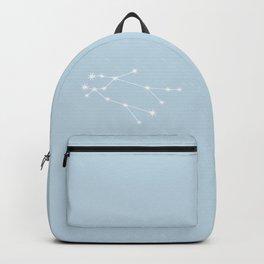 Gemini Zodiac Constellation - Pastel Blue Backpack