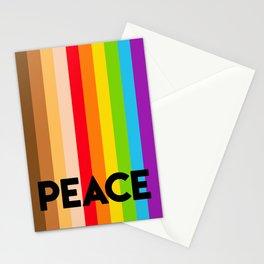 Rainbow peace flag movement Stationery Cards