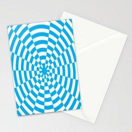 Monochrome Daze Cyan Blue Square Stationery Cards