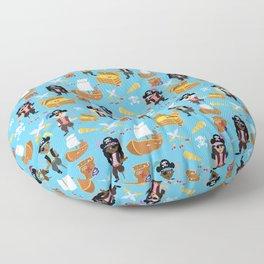 Ahoy Matey! Kids Pirate Treasure Hunt Floor Pillow