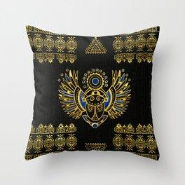 Egyptian Scarab Beetle Throw Pillow