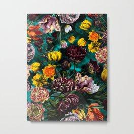Botanical Multicolor Garden Metal Print