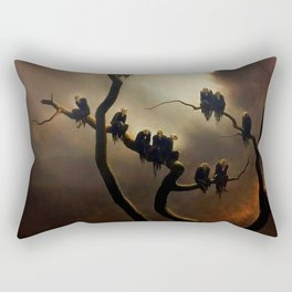 Vivid Retro - Ghosts in a Tree Rectangular Pillow
